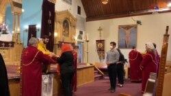 Մուտքը՝ միայն դիմակով ու ձեռնոցով․ Նյու Ջերզիի հայկական եկեղեցին բացել է իր դռները