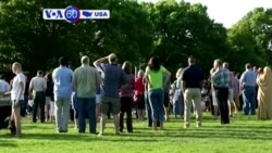 VOA60 America - Hundreds gather at an interfaith vigil held days after a bomb attack at Dar Al Farooq mosque Bloomington, Minnesota