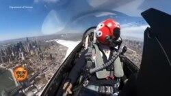 امریکی لڑاکا طیاروں کا طبی عملے کو خراج تحسین
