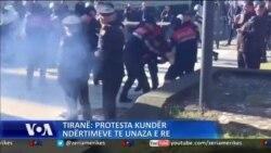 Përleshje, plagosje dhe arrestime gjatë protestave te Unaza e Re