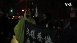 陆生港生纽约示威对阵