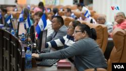 La Asamblea Nacional de Nicaragua está controlada por el oficialismo. [Foto Houston Castillo/VOA].