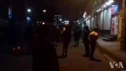 فیلم ارسالی: معترضان در کرج برای شب پنجم هم به خیابانها آمدند