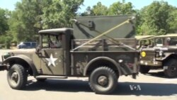 Historic Military Vehicles Join Convoy Crossing US