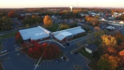 Election Morning Drone Aerial Video at Maryland Polling Station