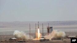 تصوير مربوط به پرتاب ماهواره سیمرغ که سال گذشته سپاه پاسداران انقلاب اسلامی انجام داد