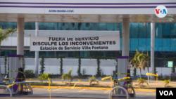 Las estaciones de servicio de la gasolinera Zanzíbar han cerrado después de las sanciones. Foto de Houston Castillo, VOA.