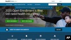 Trang mạng HealthCare.gov gia hạn ngày đăng ký bảo hiểm y tế giá phải chăng cho năm 2020.