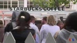 Le premier Starbucks d'Afrique sub-saharienne très attendu par des centaines de clients (vidéo)