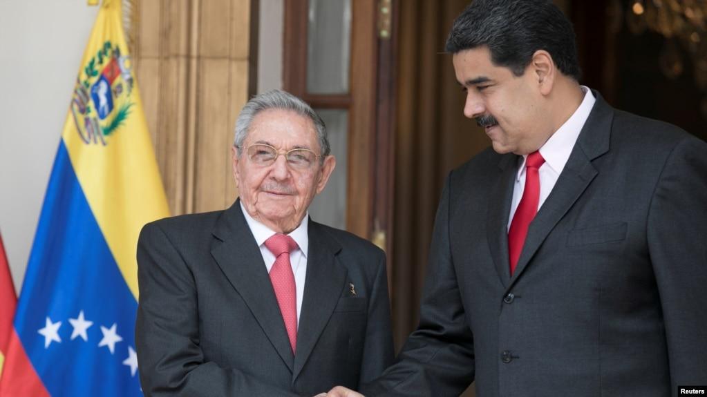 Lãnh đạo Đảng Cộng sản Cuba Raul Castro và Tổng thống Venezuela Nicholas Maduro.