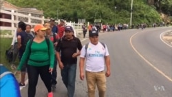 Honduran Migrant Caravan Marches Toward Mexico