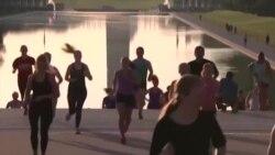 美国万花筒:美国著名景点激发健身热情