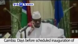 VOA60 Africa - Gambia's President Stalls Swearing In of President-Elect