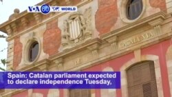 VOA60 World - Spain: Catalan parliament expected to declare independence Tuesday