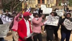 Protesters Outside Zimbabwe Embassy in South Africa