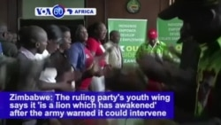 VOA60 Africa - Military Vehicles Reported Outside Zimbabwe Capital