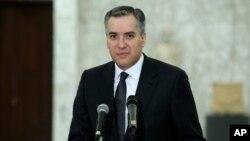 26일 사임을 발표한 무스타파 아디브 레바논 총리 지명자 (자료사진)