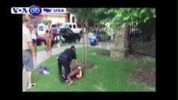 Cảnh sát vật thiếu nữ da đen xuống đất từ chức (VOA60)