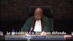 Le président Zuma reconnu coupable d'avoir violé la Constitution