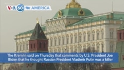 VOA60 America - Tensions rising between the United States and Russia following sharp statements from President Joe Biden