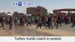 VOA60 World - Kurds protest the airstrikes sanctioned by the Turkish government - August 31, 2015
