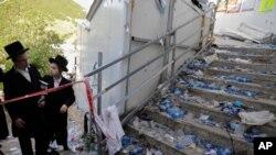 En la imagen, los cuerpos de las víctimas mortales de una estampida en las celebraciones de Lag Ba'Omer, en el Monte Merón, en el norte de Israel, el 30 de abril de 2021.