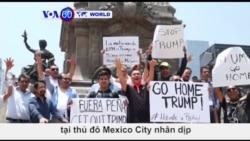 Mexico: Biểu tình phản đối chuyến thăm của ông Trump (VOA60)