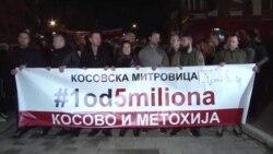"""Protest """"1 od 5 miliona"""" u Severnoj Mitrovici"""