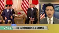 "VOA连线(黄耀毅):川普:""川金会""目前有五个可能的地点"