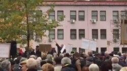 Protesti penzionera pred Vladom FBiH