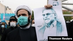 Biểu tình tại Iran phản đối việc khoa học gia hạt nhân hàng đầu của Iran bị sát hại.