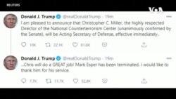 特朗普解僱防長埃斯珀 議員們擔心敵人有機可乘