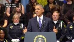 President Barack Obama, Former President George W. Bush address Dallas memorial service