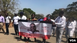 Faayilii - hiriira butamuu doctor Piitar mormuudhan hojjattonni fayyaa geggeessan, Zimbaabuwee