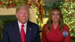 Президент Трамп разом із Першою Леді Меланією привітали американців з Різдвом. Відео