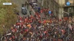 İspanya'nın Özerk Bölgesi Katalonya'daki Gösteriler Altıncı Gününde