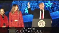 President Trump, First Lady Light the National Christmas Tree