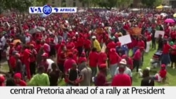 VOA60 Africa - South Africa Opposition Protests Outside President's Official Home