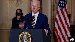 Tổng thống Joe Biden phát biểu tại Bộ Ngoại giao Mỹ, 4/2/2021.