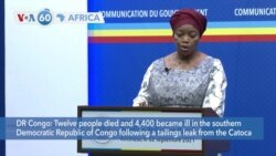 VOA60 Africa- Angolan diamond mile leak killed 12 people, sickened thousands in DR Congo in July, Congolese government said