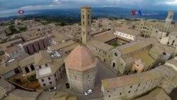 Modelo 3D toscano de Volterra, realidad virtual