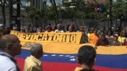 Oposición venezolana ratifica su deseo de un revocatorio