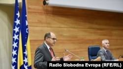Bosnia and Herzegovina, Sarajevo, High Representative to Bosnia Christian Schmidt speaks in the Parliament of Bosnia on October 28th session, October 28, 2021