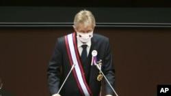 捷克參議院議長維斯特奇爾在台灣立法院發表演說。(9月1日)