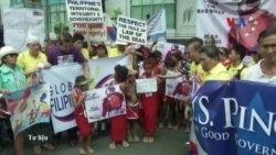 Giới trẻ Philippines ra đảo biểu tình chống Trung Quốc