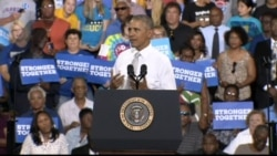 President Obama Campaigns for Democratic Nominee Clinton in Florida