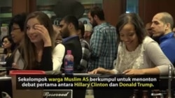 Muslim AS Saksikan Debat Capres