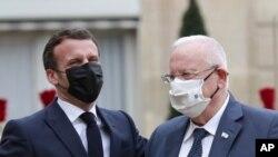دیدار روسای جمهوری فرانسه و اسرائيل در پاریس - ۲۸ اسفند ۱۳۹۹