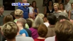 VOA60 America - Hillary Clinton losing support in Iowa - August 31, 2015