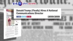 VOA60 Elections - Trump has hired former spokesperson to Ted Cruz as a senior communications adviser